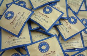 Ginger Honeybush Tea Sachets.